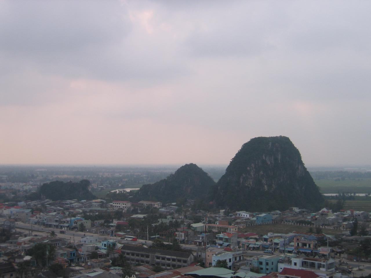 Da Nang_Marble Mountain 4 (Wood Mountain on left_double hump Metal Mountain on right)