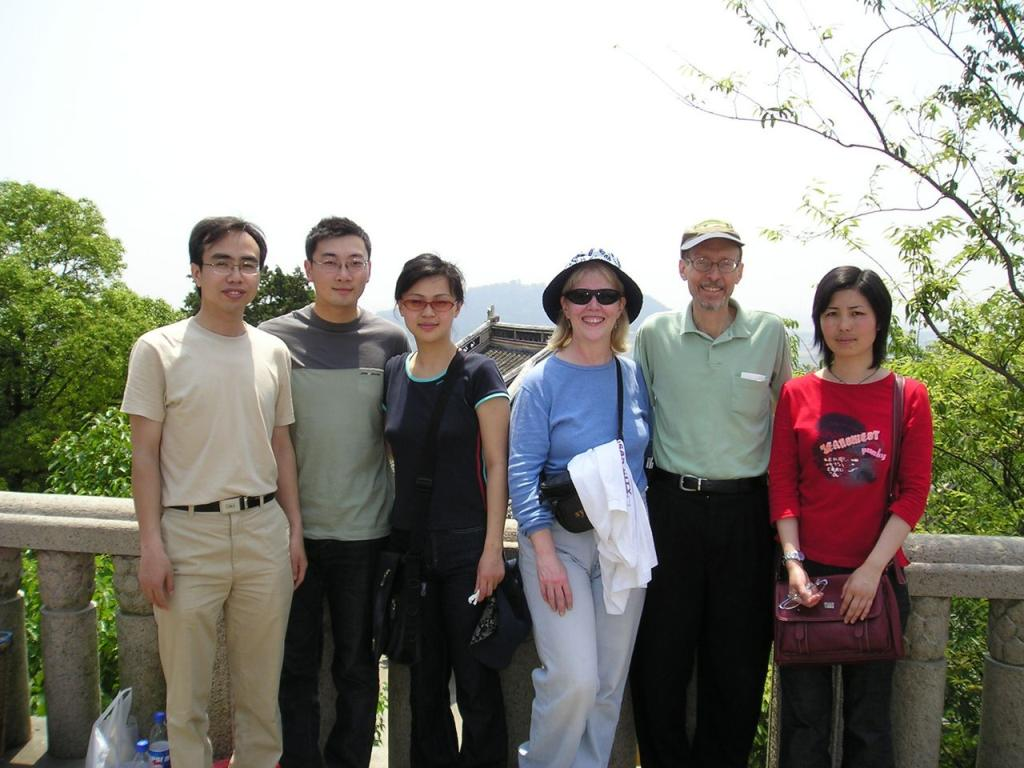at Lang Shang (Wolf Mountain) with colleagues from work