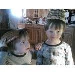 Sam and Drew with headgear (February 2013)