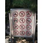 Everything is forbidden! Sign at entrance to Summer Palace, Beijing