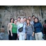 with old friend Jianxia Zhao & family at Longmen (Dragon Gate) Caves